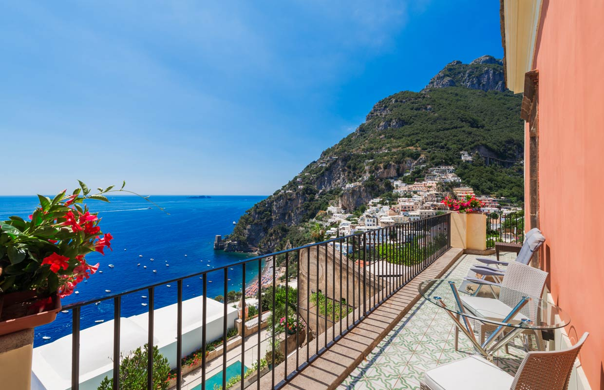 Deluxe Double with a balcony and sea view - Villa Magia, Positano
